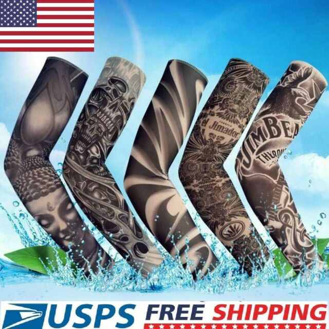 5 pcs Tattoo Cooling Arm Sleeves Cover UV Sun Protection Basketball Sport USA