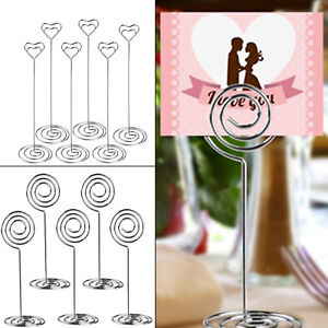 Image Is Loading 10pcs Metal Place Card Holder Table Number Photo