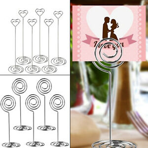 Details about 10pcs Metal Place Card Holder Table Number Photo Holder  Stands for Wedding Party
