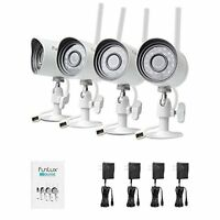 4 Outdoor Wireless Home Security Cameras Surveillance Video Camera System NEW