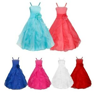 Flower-Girls-Princess-Formal-Wedding-Bridesmaid-Birthday-Party-Prom-Gwon-Dress