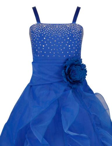 Girls Party Princess Dress Kids Pageant Bridesmaid Wedding Flower Girl Dress