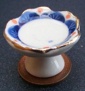 1-12-Raised-Blue-Ceramic-Fruit-Bowl-Dolls-House-Miniature-Kitchen-Accessory-SAB