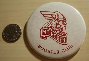 Mt Horeb Wisconsin School Booster Club Pin Pinback Button #32086
