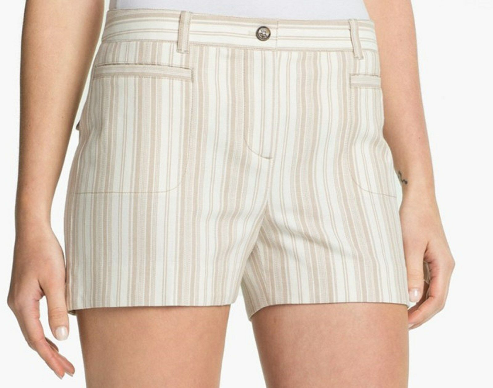NWT  175 Tory Burch Striped Cotton Short Size 12