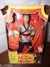 RARE Disney Mulan Captain Li Shang accessories doll figure toy - tatty box 1997