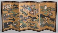 Edo period Japanese Folding Screen Hollywood regency