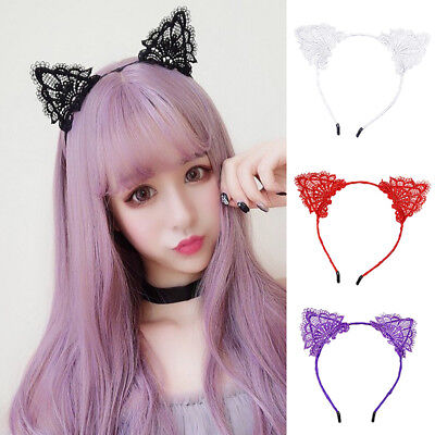 Crystal Cat Ears Hairband Hair Hoop for Girls Cat Ear Headband Headwear Party