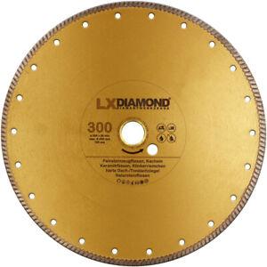 LXDIAMOND-Diamant-Trennscheibe-300mm-x-25-4mm-Feinsteinzeug-Fliesen-Naturstein