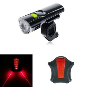 MTB Road Bike Bicycle Cycling Head Front Lights w 2 Laser Rear Tail Lamps Set - UK, United Kingdom - MTB Road Bike Bicycle Cycling Head Front Lights w 2 Laser Rear Tail Lamps Set - UK, United Kingdom