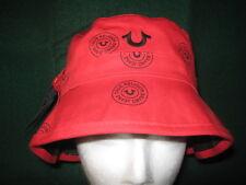 567c4502fce item 2 TRUE RELIGION Black   Red REVERSIBLE Logo BUCKET Hat (Small    Medium)