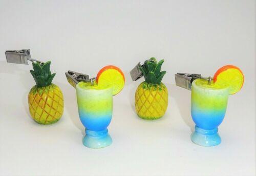 Tischdeckenbeschwerer Tischdeckengewichte 4er Set Sommer bunt gelb blau Ananas