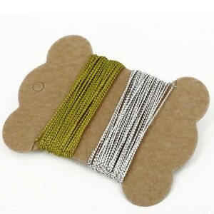 10M =  5m Gold & 5m Silver Card Craft Gift Cord String Christmas gift tag thread