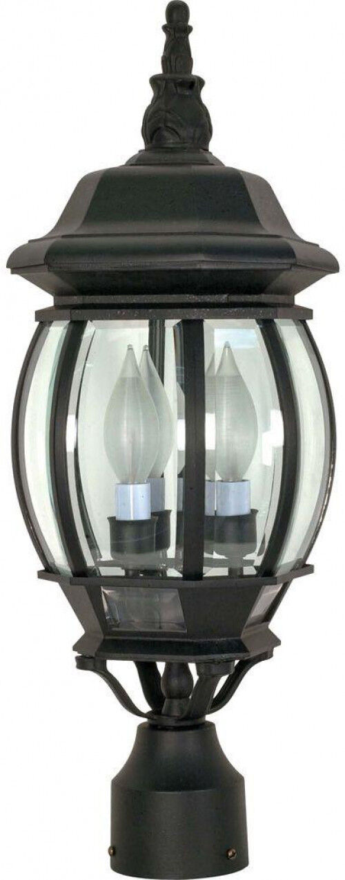 Linterna puesto al aire libre resistente a la intemperie Decorativo Candelabro base de 3 Luz
