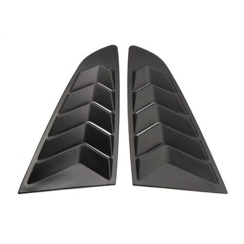 Matte Black Rear Window Louver Shutter Cover Trim 2pcs For Ford Mustang 15-19