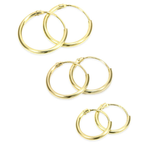 375 gelb GOLD CREOLE OHRHÄNGER OHRSTECKER OHRRINGE Damen Herren EINZEL oder PAAR