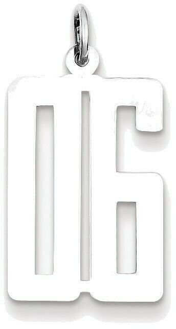 Diagram Sterling Silver Small Elongated Polished Number 95 Charm