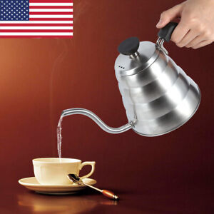1L-34OZ-Stainless-Steel-Stovetop-Moka-Espresso-coffee-kettle-gooseneck-Tea-Pot
