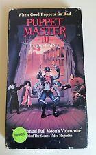 Puppet Master 3: Toulons Revenge VHS 1991 Full Moon Horror