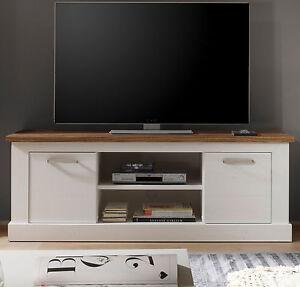 tv tisch wei pinie nussbaum lowboard fernsehtisch landhaus m bel toronto 160 cm ebay. Black Bedroom Furniture Sets. Home Design Ideas