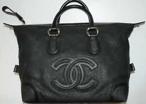 Image is loading New-CHANEL-BAG-Classic-Black-Soft-CAVIAR-Leather- 92d0bef050