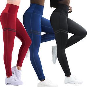 24887a9f2b Women High Waist Yoga Leggings Stretch Slim Fit Push Up Trousers ...