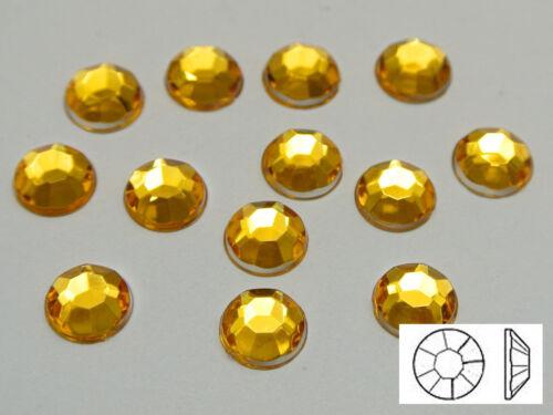 "NO Hole Pick Your Color 200 Flatback Acrylic Round Rhinestone Gems 10mm 3//8/"""