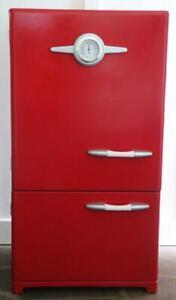 Pottery Barn Kids Kitchen Refrigerator Retro Ice Box Red