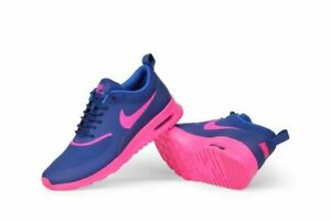 best service 0e2d8 992e6 Image is loading Nike-Wmns-Air-Max-Thea-BLUE-PINK-599409-