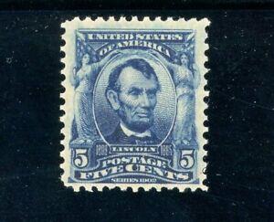USAstamps-Unused-FVF-US-1902-Lincoln-Scott-304-OG-MVLH