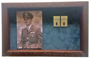 Large-Medal-Display-Case-With-Photograph-For-3-4-Medals