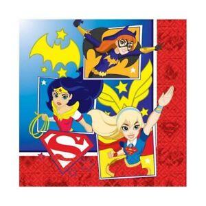 DC-Super-Hero-Girls-33cm-Luncheon-Napkins-16-Pack-Birthday-Party-Tableware