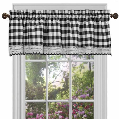 Assorted Colors Country Farmhouse Buffalo Plaid Window Valance Treatment