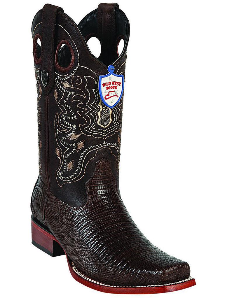 wild west Marron  véritable véritable véritable lézard botte de cow - boy rodeo-square-toe (d) a11e81