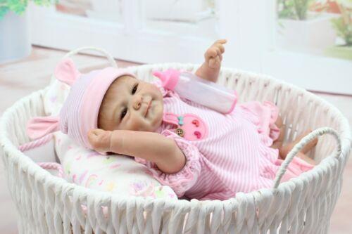18/'/'45cm Lovely Lifelike Reborn Baby Doll Silicone Vinyl Newborn Girl Xmas Gift