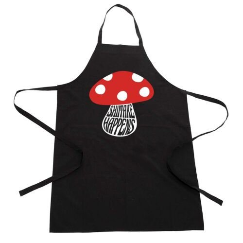 Shittake Happens Funny Fathers Day Novelty Summer BBQ Cooking Chef Apron Gift