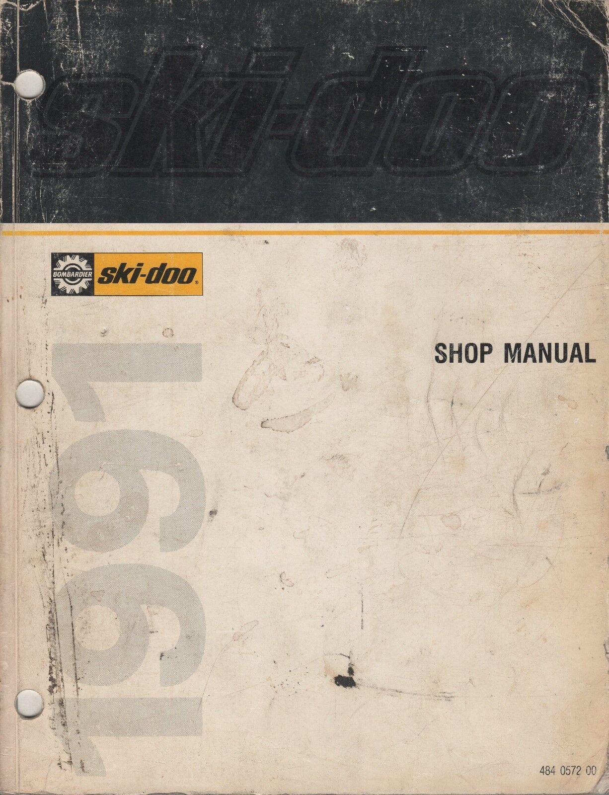 1991 SKI-DOO (see models in description) SHOP SERVICE MANUAL 484 0572 00 (424)