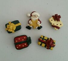 Button Covers Christmas Set of 5