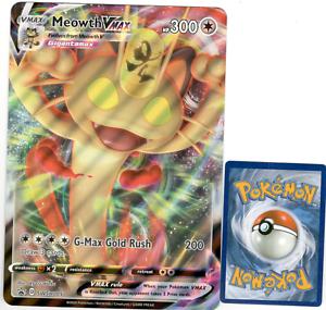 JUMBO SIZE Meowth VMAX SWSH005 Promo Pokemon NM//M