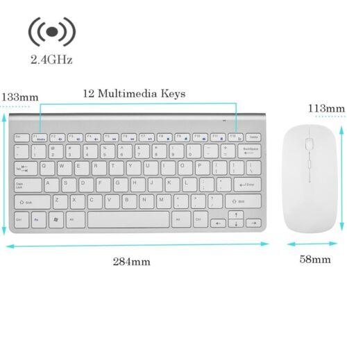 "Wireless Keyboard Mouse for JVC LT-43C775 43/"" Smart LED TV Sj"