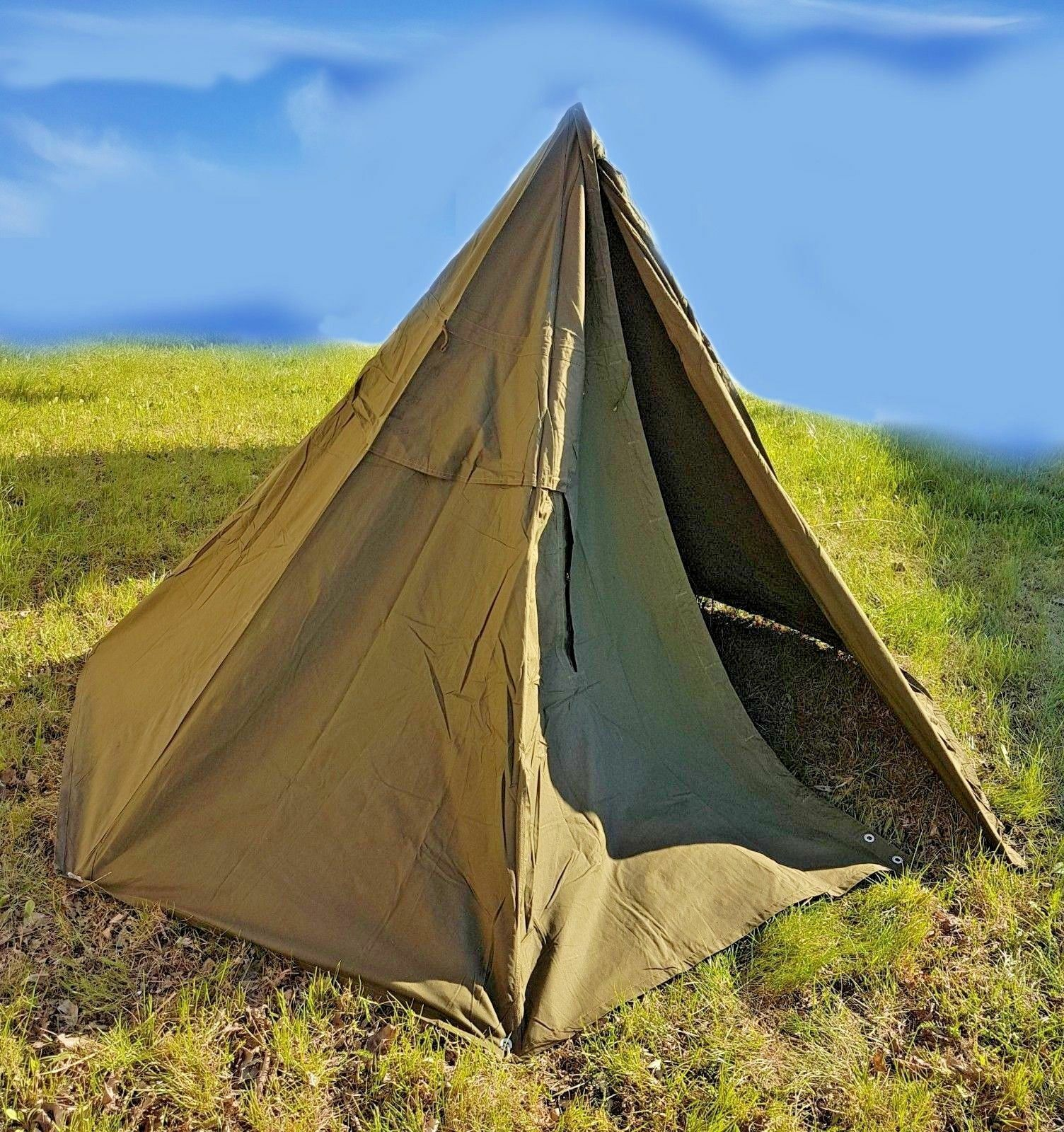 Military tent tipi - two brand new poncho