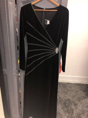 Tadashi Black  Velvet  Dress Size XL