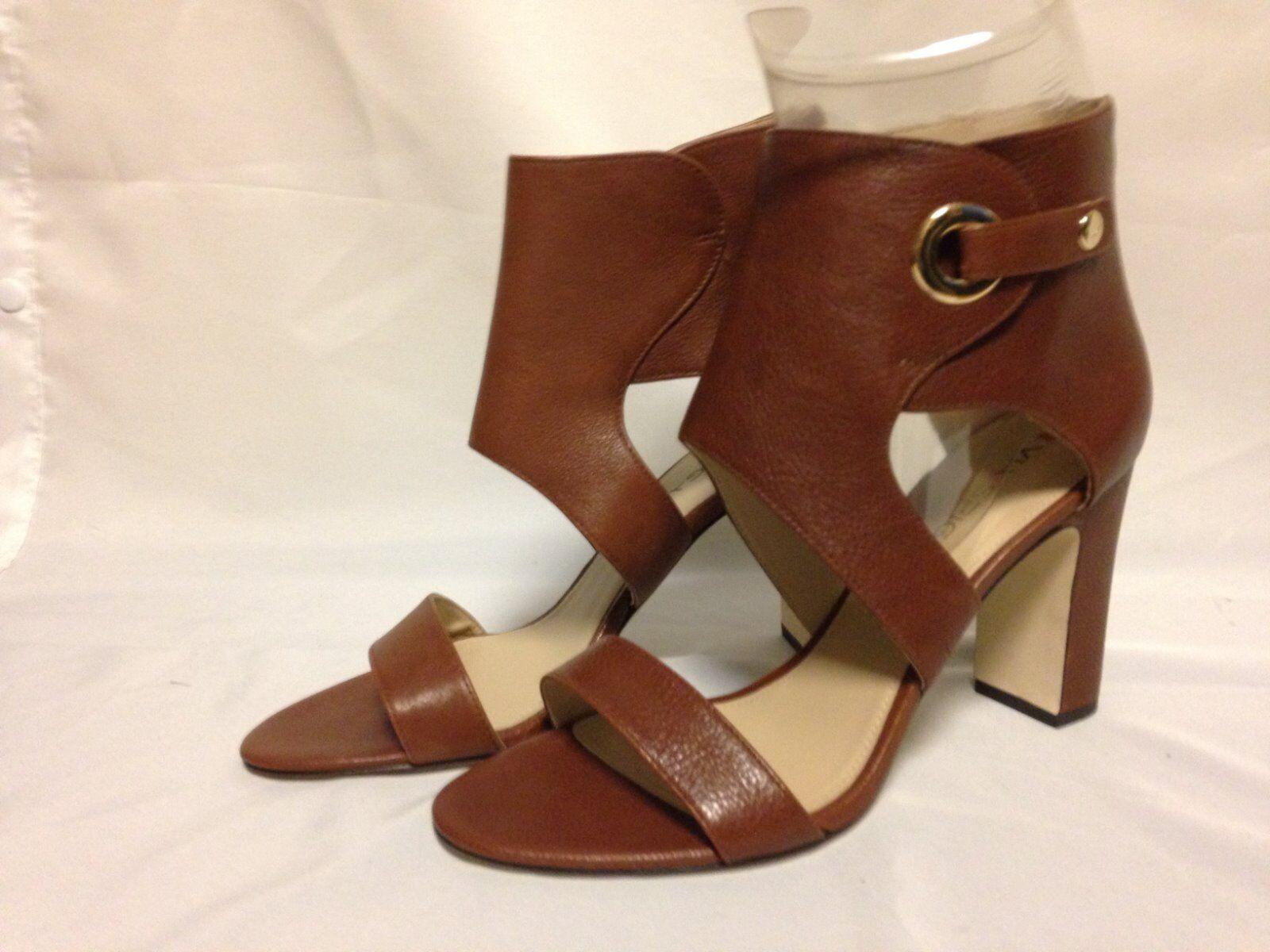 Via Spiga Adra Ankle Sandal 8.5 9 M Russet Leather MISMATES New w  Defect