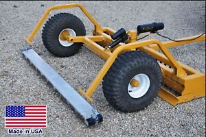 6 ft Driveway GRADER & MAGNET - Clevis Hitch - ATV UTV ROV & Mower Compatible