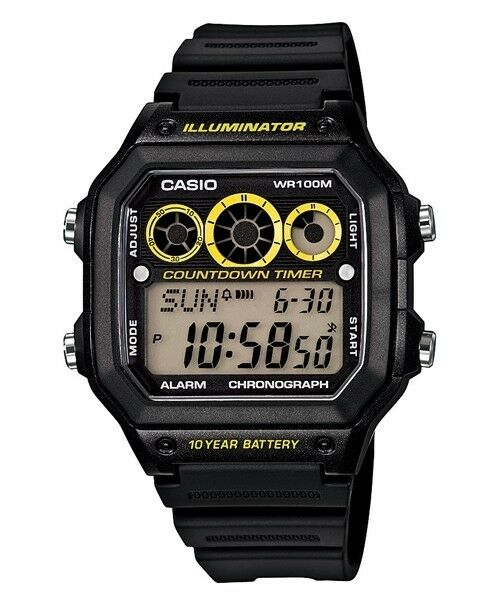 AE-1300WH-1A Japan Movt New Casio Watch 10-Year Battery World Time Resin Band