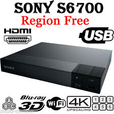 NEW Sony S6700 Region Free DVD & BD ZONE ABC Blu-Ray Disc Player- 4K- 3D- WIFI