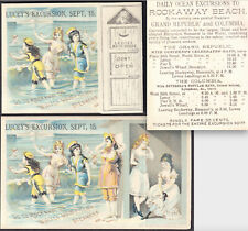 Columbia Steamship 1800's Rockaway Beach NY Bathhouse Swimsuit Ship Trade Card