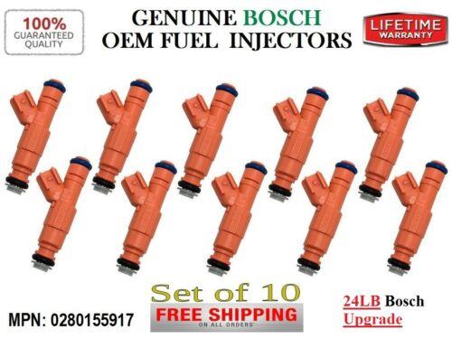 Reman 10x Fuel Injectors OEM 24LB Bosch Upgrade *Ford Models F//E 350-250 SD 6.8L