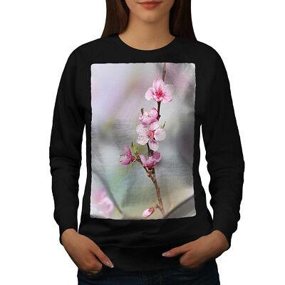 2019 Neuer Stil Wellcoda Sakura Tree Blossom Womens Sweatshirt, Japanese Casual Pullover Jumper Gute QualitäT