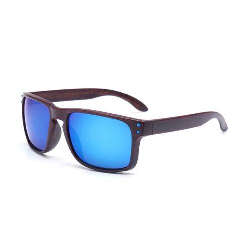 2019 Mens Wood Sunglasses UV400 Square Retro Frame Eye Glasses Faux Women Unisex